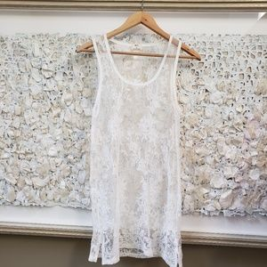anthropologie pins & needles lace dress